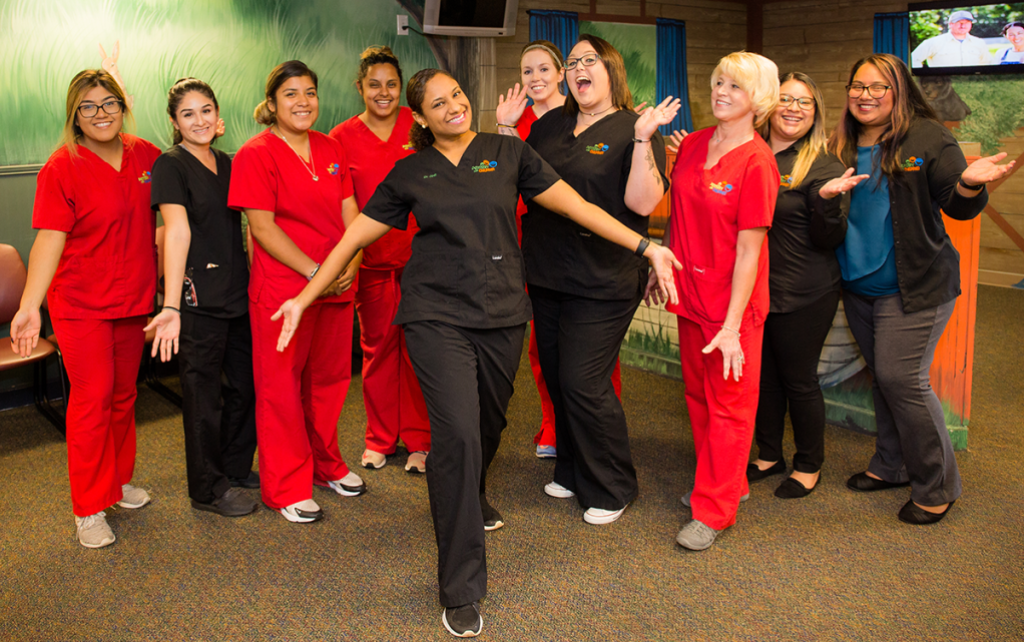 Dr. Jodi Pessoa and the team in Gainesville pose for a group shot.